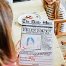 'The Daily Mum,' Personalised Newspaper For Mothers