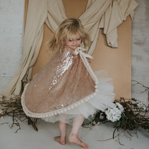 Rose Gold Pom Pom Cape - baby & child