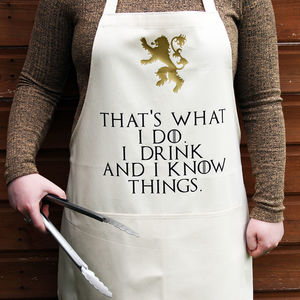 Game Of Thrones Style Lannister Cooking Apron - aprons