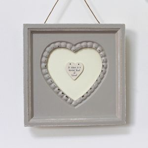 'Special Sister' Vintage Heart Framed Picture - decorative accessories