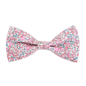 Pink Liberty Print Dog Bow Tie