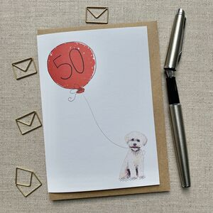 Personalised Bichon Frise Birthday Card