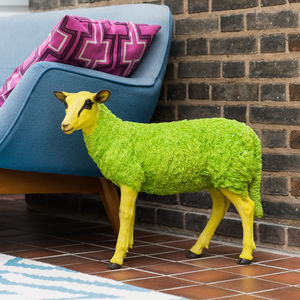 Decorative Pop Art Sheep Figurine