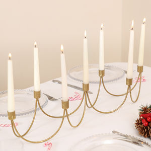 Luxury Gold Wave Candelabra - tableware