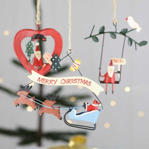 Father Christmas With Festive Message Decorations - tree decorations