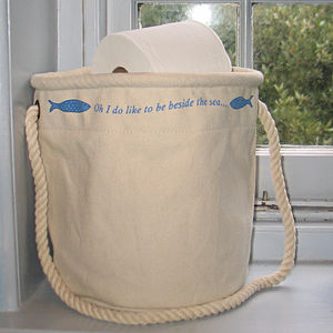 Pair Of Seaside Home Storage Bags