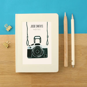 Personalised Camera Notebook - film & tv