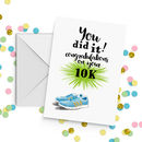 Running Congratulations Achievement Card