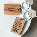 Personalised Wooden Gift Favourite Child Keyring
