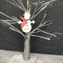 Personalised Wooden Snowman Christmas Decoration