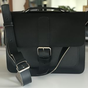 Black Leather Mesanger Bag