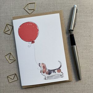 Personalised Bassett Birthday Card
