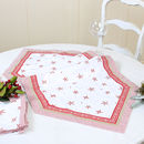 Christmas Red And White Snowflake Table Runner