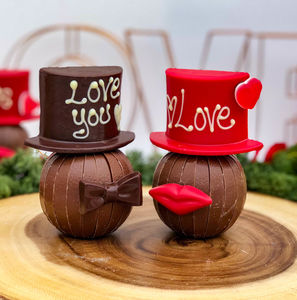 Hat And Bow Tie Or Hat And Lips - novelty chocolates