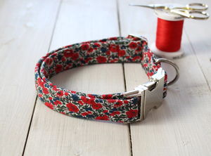 Winifred Liberty Fabric Dog Collar