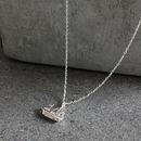 Silver Sailing Ship Necklace