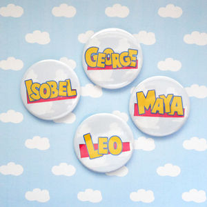 Personalised Party Badges