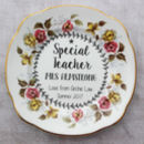 Personalised Thank You Gift Teacher Vintage Tea Plate
