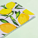 Citrus Lemons Thicker A5 Notebook With Lined Pages