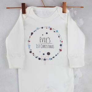 First Christmas Babygrow, Personalised - clothing