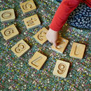 Handcrafted Wooden Number Cuboids In Natural