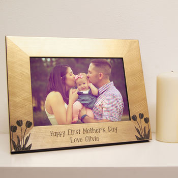 Personalised Tulips Mother's Day Photo Frame