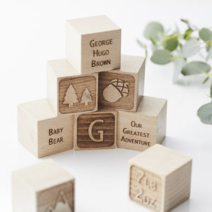 Adventure Personalised Keepsake Building Blocks - traditional toys & games