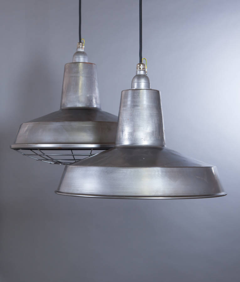 Linton Enamel Factory Industrial Pendant Light By Dowsing