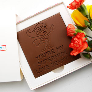 Personalised Mum's Birthday 'Supermum' Chocolate Card - novelty chocolates
