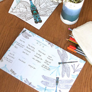 Dragonfly Weekly Planner - sale