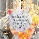 1st Xmas In New Home Marble Effect Tree Decoration