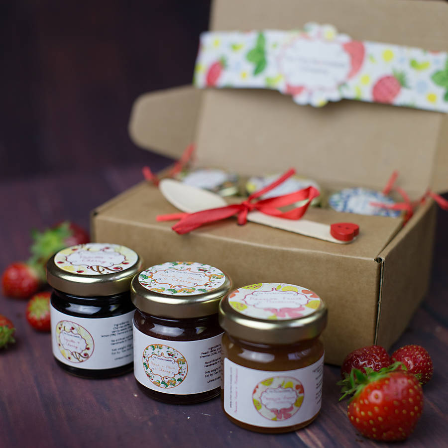 Exotic Mini Jam And Marmalade Taster Box By The Tiny Marmalade