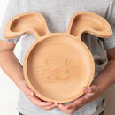 Personalised Eco Friendly Rabbit Plate Made In Britain