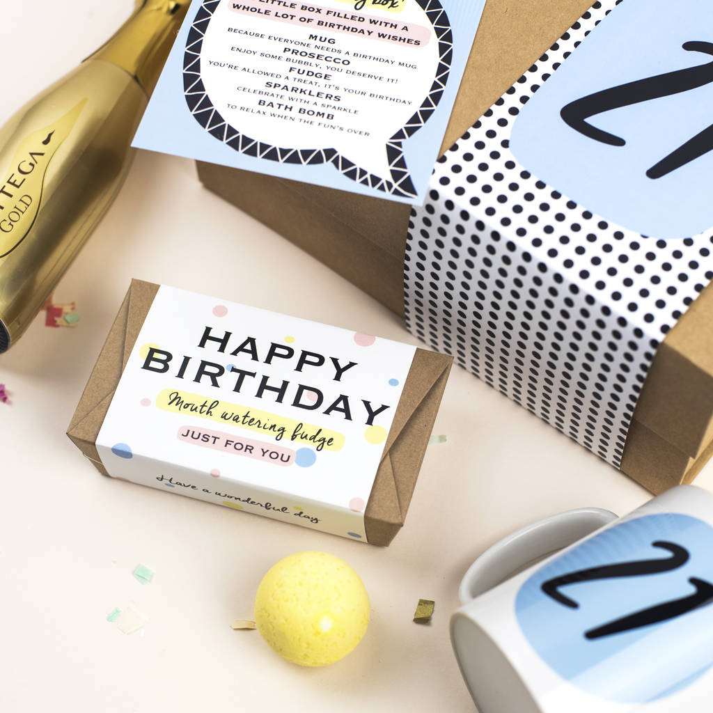 21st Birthday Gift Box In A By Harfields Design