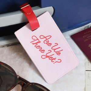 'Are We There Yet?' Luggage Tag - traveller