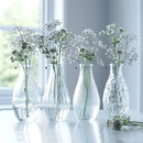 Round Pressed Glass Bottle Vase