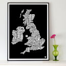 British Gastronomy Map Print