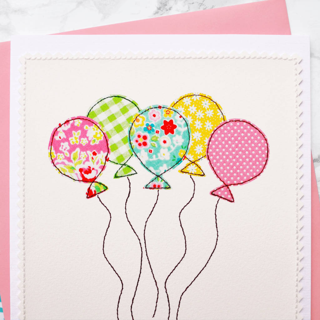 Large A5 Personalised Girls 1st Birthday Card