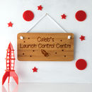 Personalised Space Rocket Bedroom Sign
