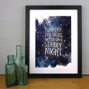 'Switch On A Starry Night' Print