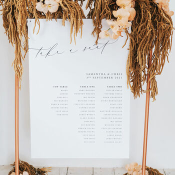 Samantha Table Plan