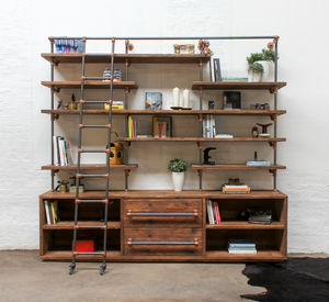 Bos Bespoke Shelving Unit With Drawers - bookcases