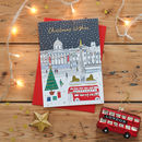 London Scene Gold Foiled Christmas Card