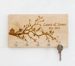 Bird Nest Personalised Key Organiser - kitchen