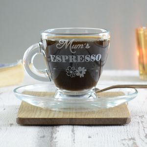 Mum Mothers Day Personalised Espresso Glass