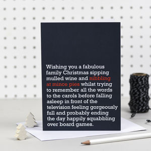 'Nibbling At Mince Pies' Christmas Card