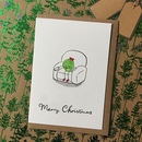 Pack Of Eight Funny Brussel Sprout Christmas Cards