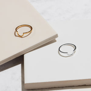 Sterling Silver Arc Ring - rings