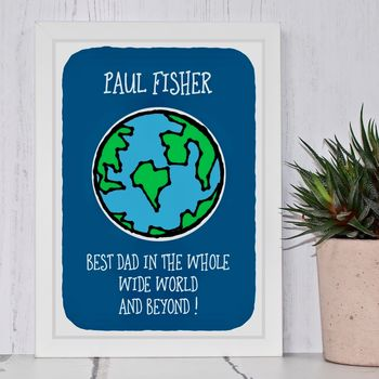 Best Dad In The World Print