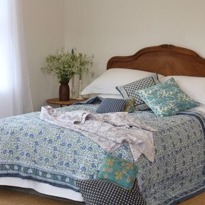 Bella Block Print Quilt - bedroom